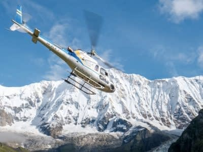 scenic helitour in nepal
